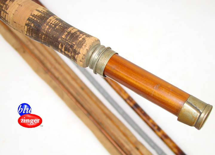 Antique the jack frost flyrod 9 39 3 2 split bamboo fly for Antique bamboo fishing rods