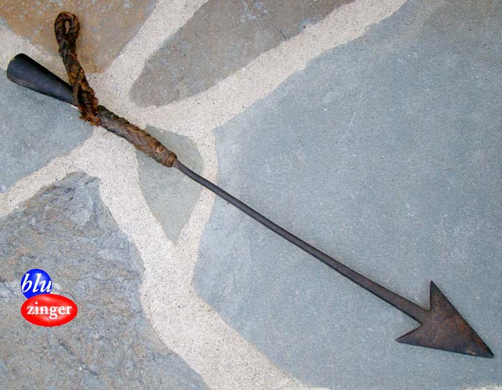 Antique whaling hand forged whale harpoon iron fishing for Fishing spears for sale